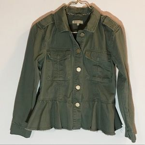 Democracy Olive Green Button-down Utility Jacket